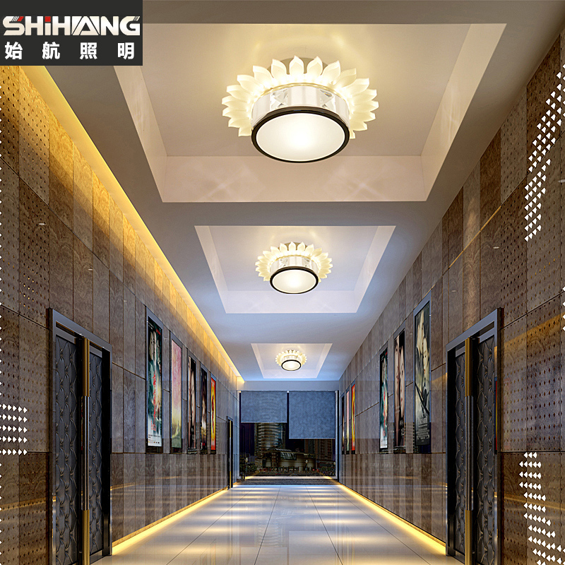 Creative led crystal lamp spotlights a full downlight ceiling aisle lights corridor lights porch light foyer ceiling lights 561