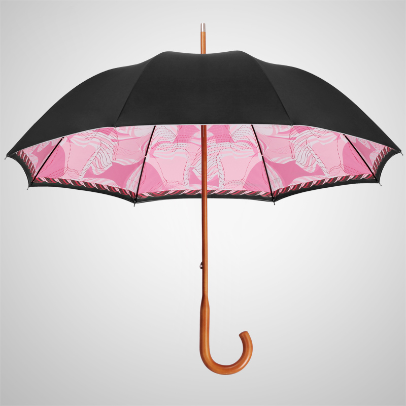 Creative missrain iprefer one female maple hand bend double umbrella straight umbrella handle long umbrella