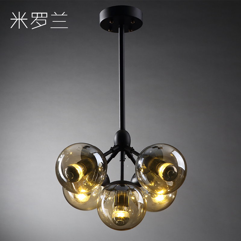 Creative personality of modern minimalist clothing store chandelier beanstalk chandelier bar chandelier bedroom lamp wrought iron chandelier nordic