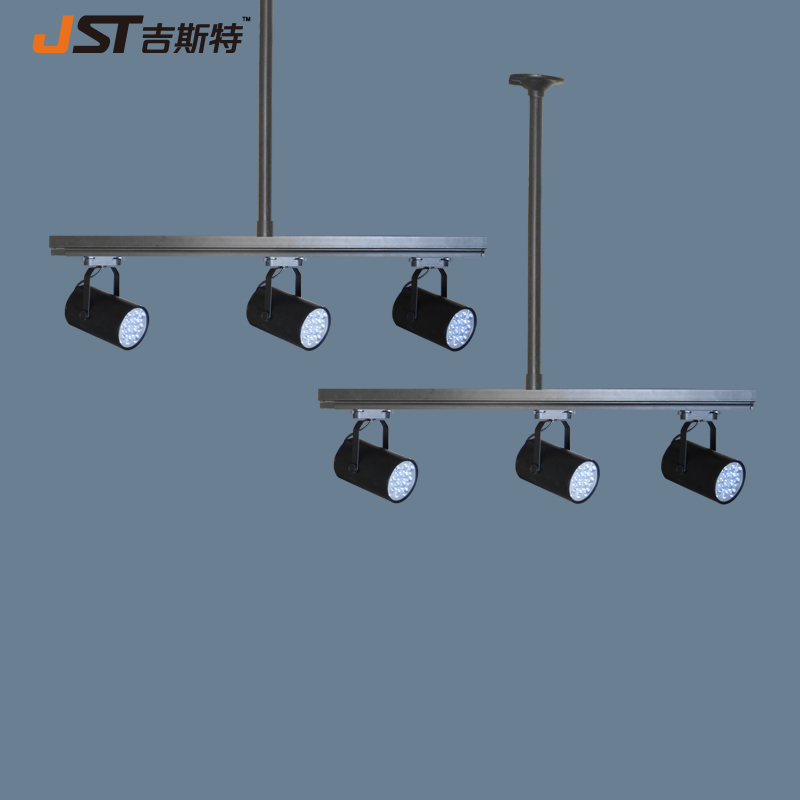 Creative personality retro industrial loft style bar sets clothing store 3 top pole head suction led track lighting showrooms