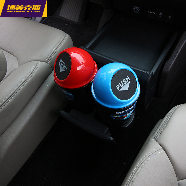 Creative small car with trash trash car hanging car glove trash barrel storage box storage box