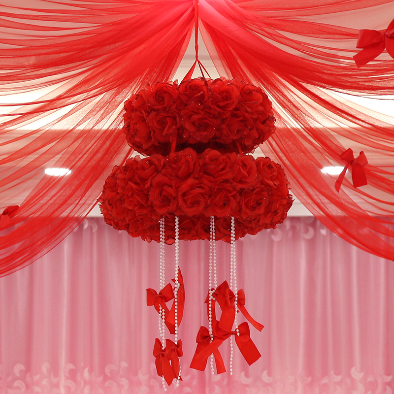 Creative supplies arranged marriage room garland new house marriage room decorative flower ball ball garland wedding supplies round