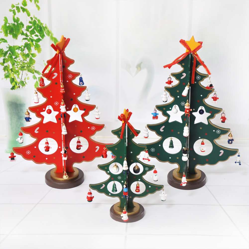 Creative wooden christmas decorations christmas tree christmas decorations christmas tabletop mesa creative supplies