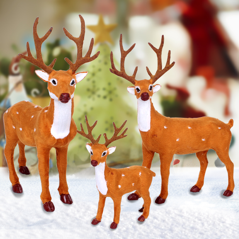 Creepy square christmas dress christmas deer elk simulation christmas tree decorations christmas gifts