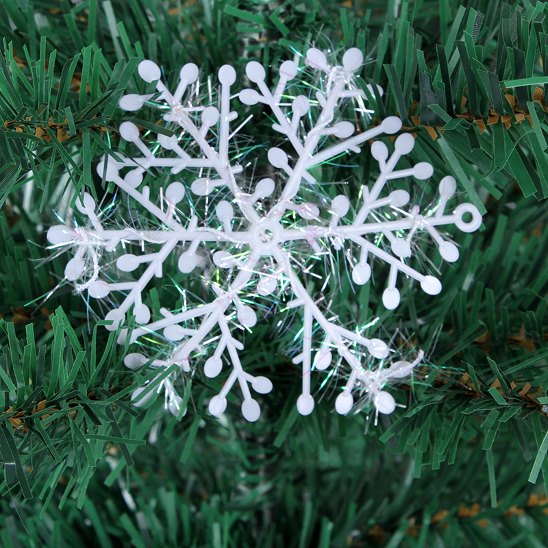 Creepy square christmas window decoration snowflake snowflake christmas tree decorations hanging pieces in various sizes