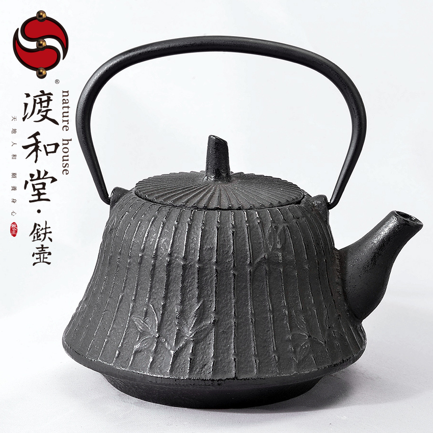 Crossing and the church iron kettle surrounded by bamboo tea tea australia intine enamel cast iron gray iron does not rust