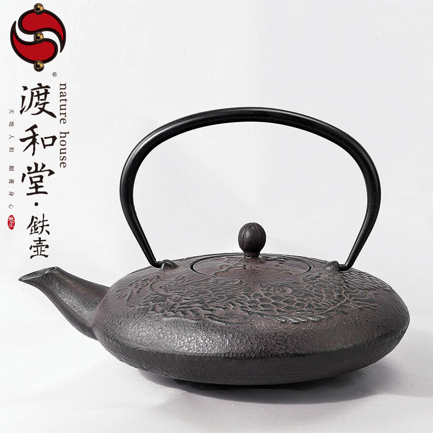 Crossing and the church iron kettle tea is the beginning of qianlong iron cast iron pot to boil water to make tea kung fu tea exported to japan