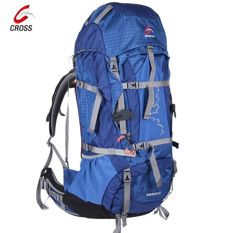 Crosstop through outdoor camping adventure mountaineering bag shoulder bag backpack 70 + 10l verdon