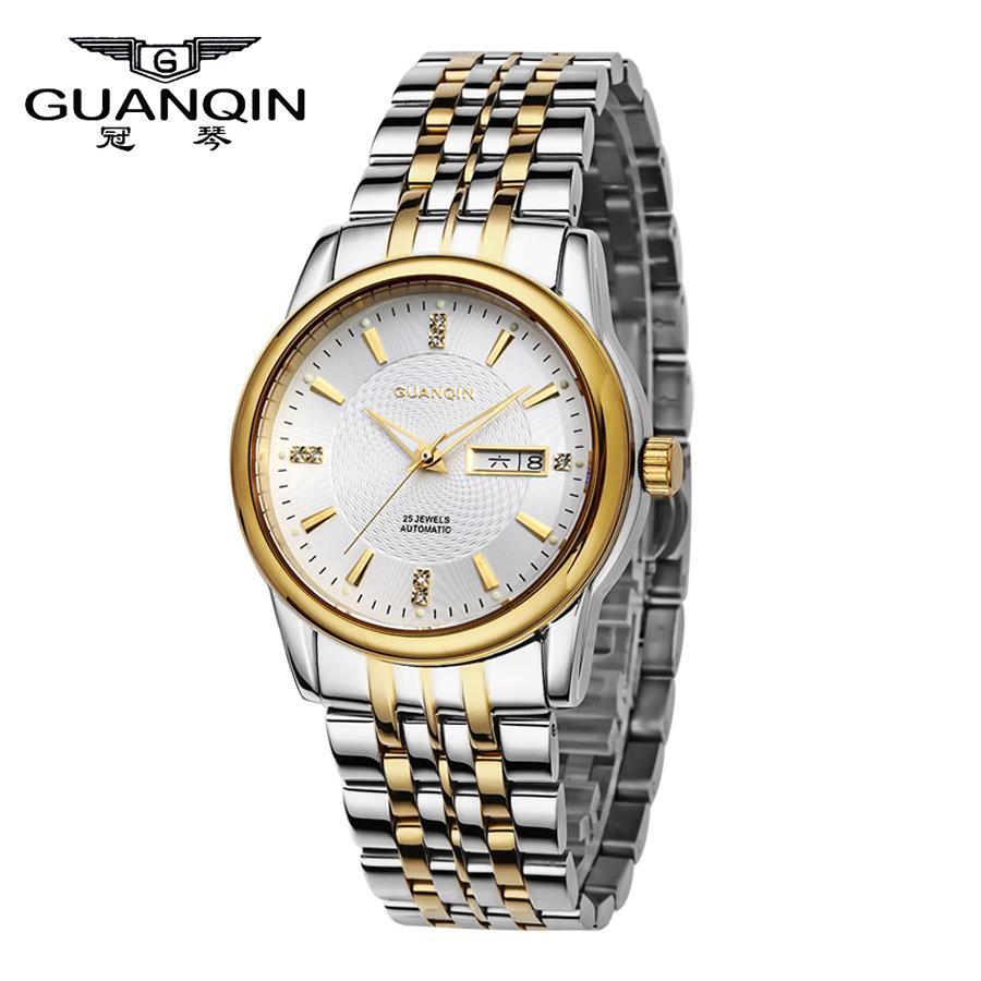 Crown piano automatic mechanical watch men watch business men watch double calendar luminous watch men watch stainless steel belt table