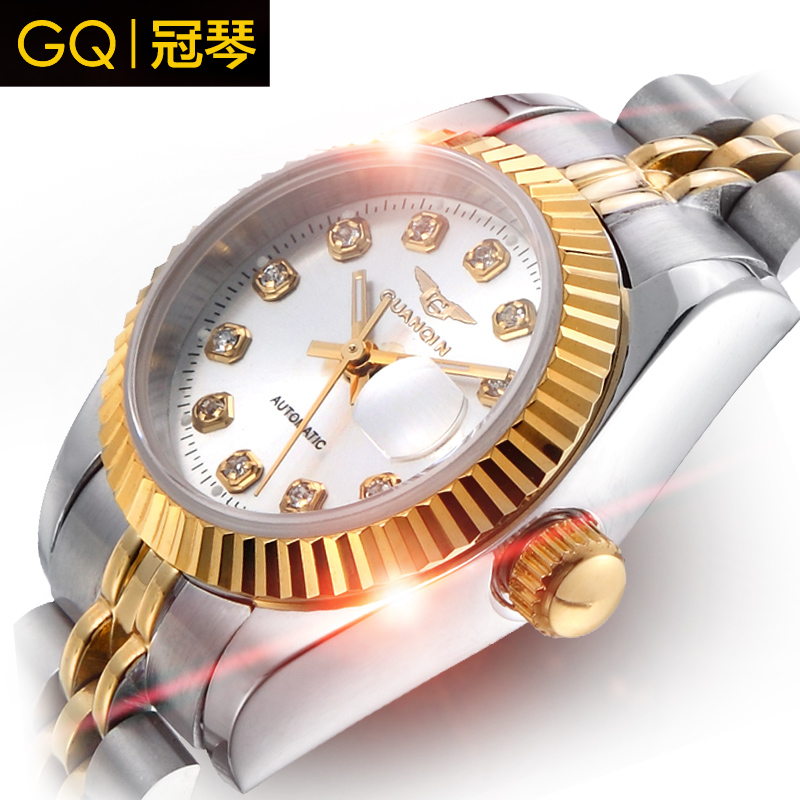 Crown piano automatic mechanical watches men watches men watch waterproof diamond fashion classic stainless steel business men watch