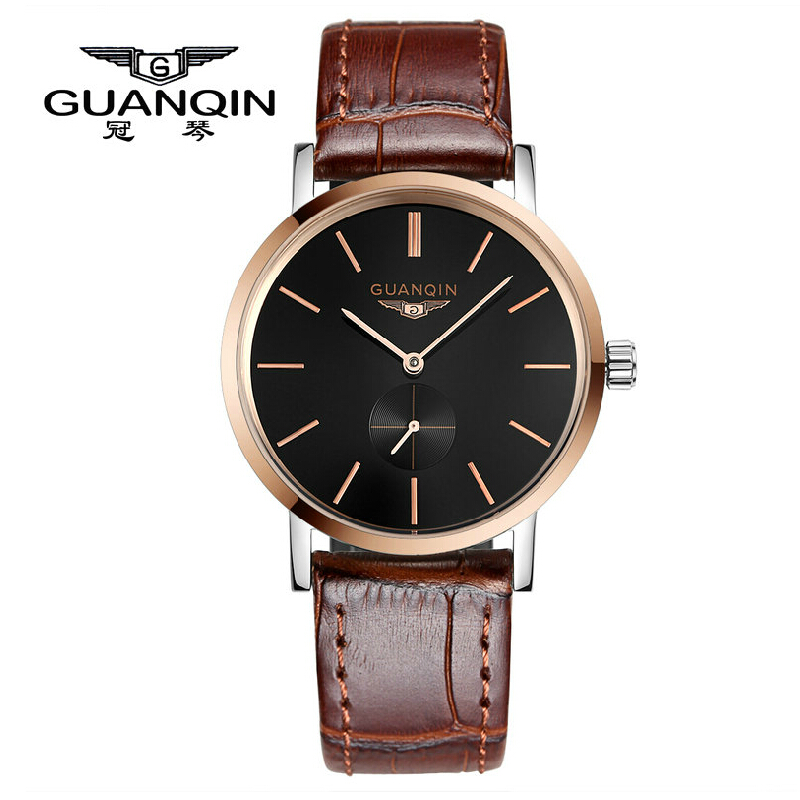 Crown piano genuine men watch waterproof automatic mechanical watch retro male table genuine leather belt watches