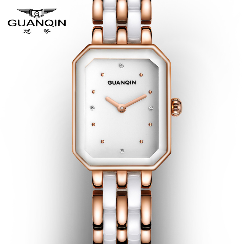 Crown piano new ms. small square dial watch quartz watch classic retro fashion rose gold stainless steel watch tide tables