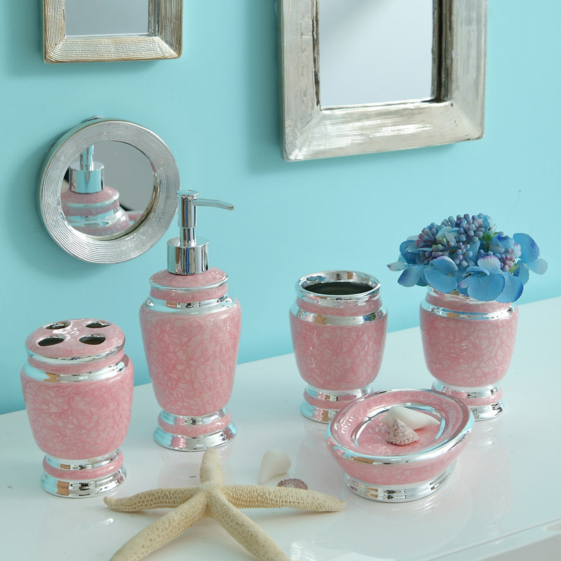 Crystal epoxy ceramic bathroom wujiantao european cups teeth with toiletries kit wedding gifts