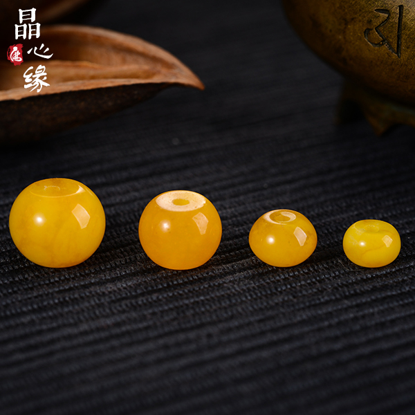 Crystal heart limbus-yellow chalcedony abacus beads xingyue bodhi bracelets bracelet beads loose beads spacer beads diy accessories
