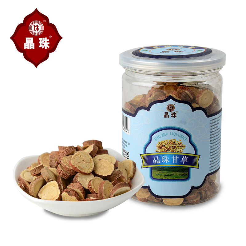 [Crystal] inner mongolia authentic beads round slices licorice pieces of licorice licorice tea [buy 1 to send a total of 1 2 cans]