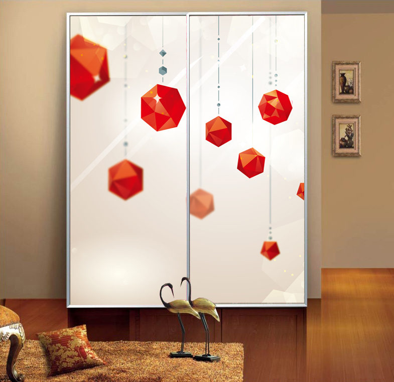 Custom glass film opaque sliding door wardrobe door stickers klimts bathroom proof transparent stickers affixed stereo darvin