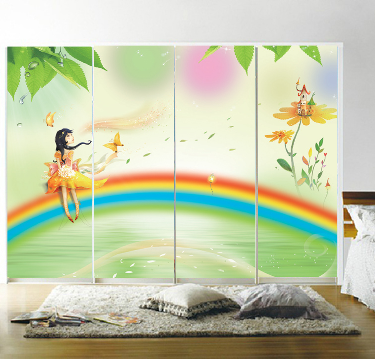Custom opaque glass door foil/pull door decal/matte film wall stickers/transparent film to the glass girl