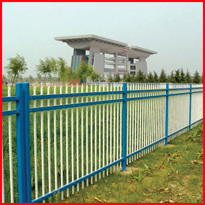 Customized community dip galvanized zinc steel fence railing fence fence fence wai railing fence wall virescence