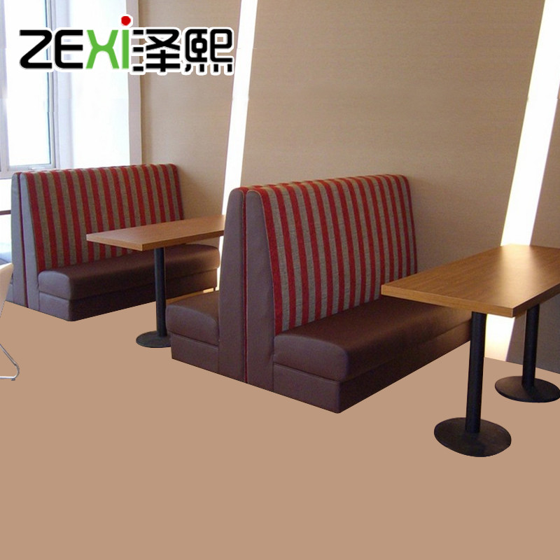 Customized restaurant deck sofa sofa tea shop dessert cafe deck sofa and chairs combination