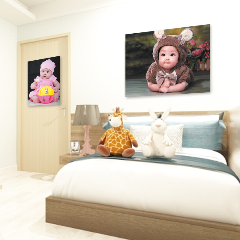 Cute male and female baby mothers essential baby early childhood illustrated poster wall stickers bedroom marriage room layout decorations