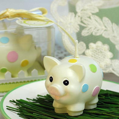 Cute piggy gifts for children birthday party supplies birthday candles candles candles smokeless candles creative
