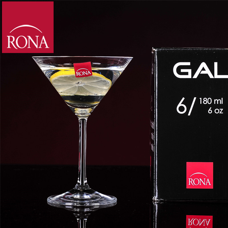 Czech rona unleaded crystal glass cocktail martini glass juice cup red wine foreign wine glass of wine 180 ml