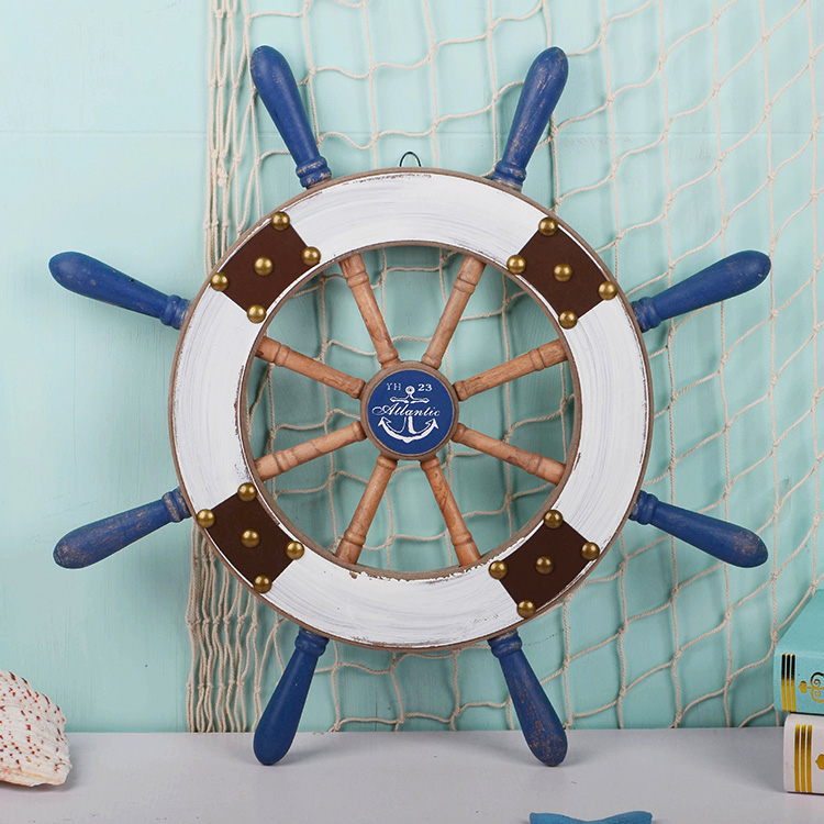 D creative zakka grocery retro mediterranean rudder wall hangings wall decorations wall hangings decorative wall hangings