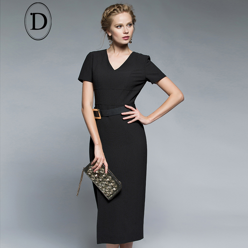478290d492b China homecoming dress Shopping Guide. (1031850 results). D home 2016  spring new v-neck slim was thin black short sleeve little black