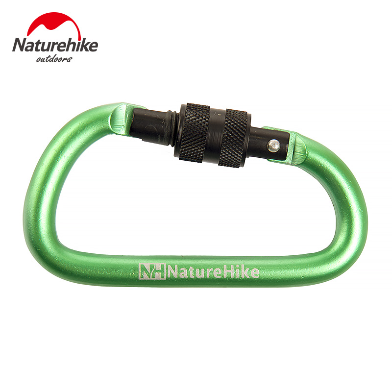 D type interlocking aluminum carabiners hanging buckle quickly hung outdoor strong special hard nut theunauthorized key chain bottle backpack buckle