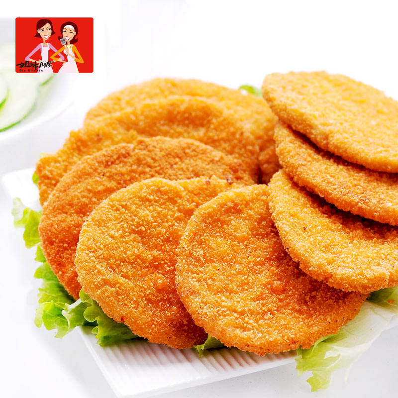 Dacheng sisters kitchen burger meat spicy 2.4 kg raw milk fresh snack food fried chicken burger