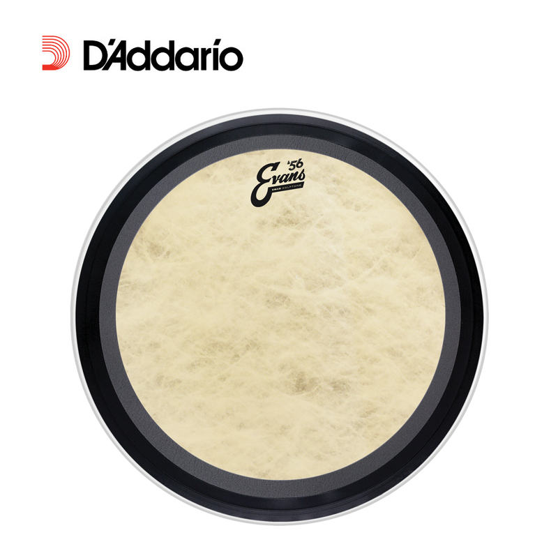 Daddario evans '56 calftone retro style drum bass drum skin emad BD26EMADCT