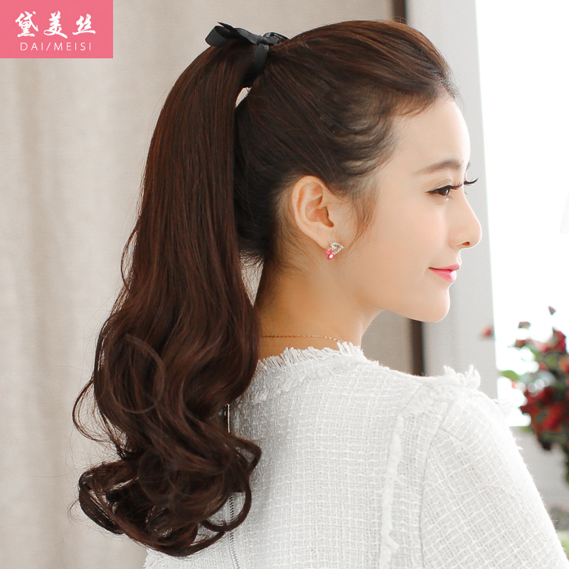 Dai meisi ms. real hair pear ponytail wig pear volume ponytail wig ponytail strap style long hair ponytail