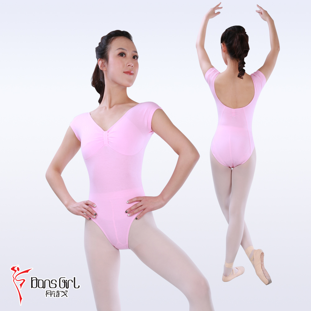 Dan poetry ge dance costume leotard ballet clothes and aerobics 2121 before knotting chicken feather sleeves clothes and body suits