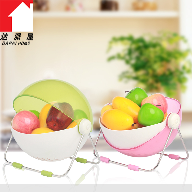 Dapai house creative circular lid modern when shang fruit compote fruit basket candy colored living room decorative storage basket