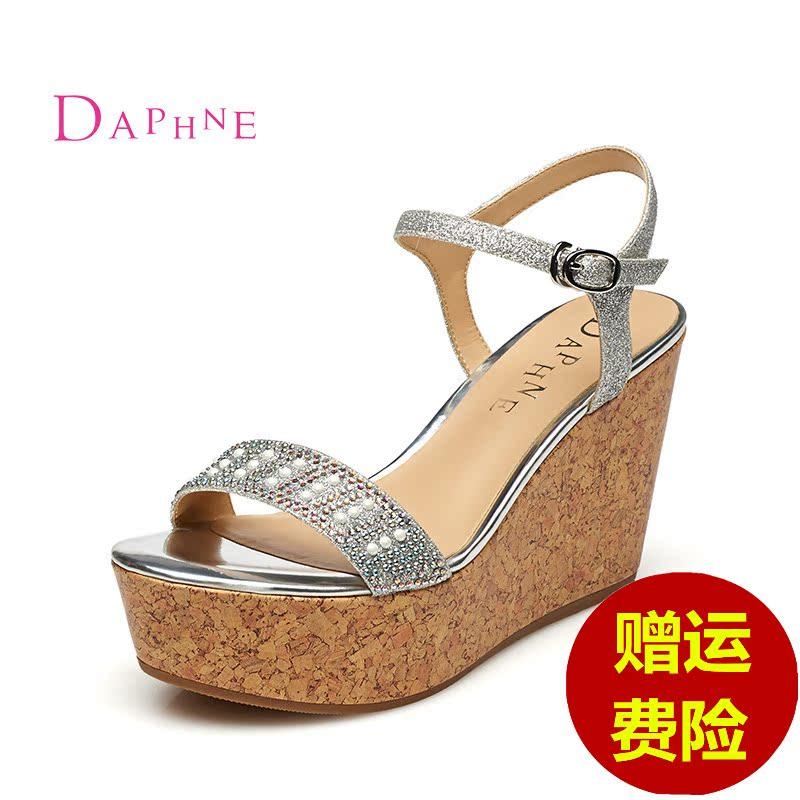 91e0122b9e2 Get Quotations · Daphne daphne 2015 summer new fashion waterproof takou  elegance heeled sandals wedges shoes