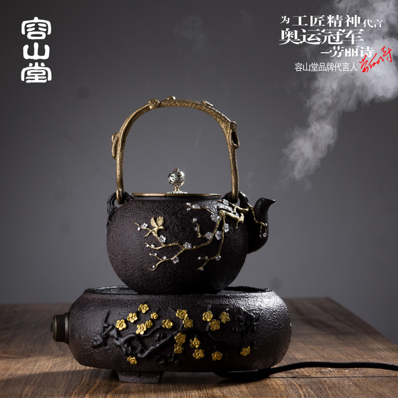 Darongshan hall iron pot dedicated electric ceramic stove stove household mute ceramic mini copper kettles boil yin hu yin hu tea electromagnetic stove