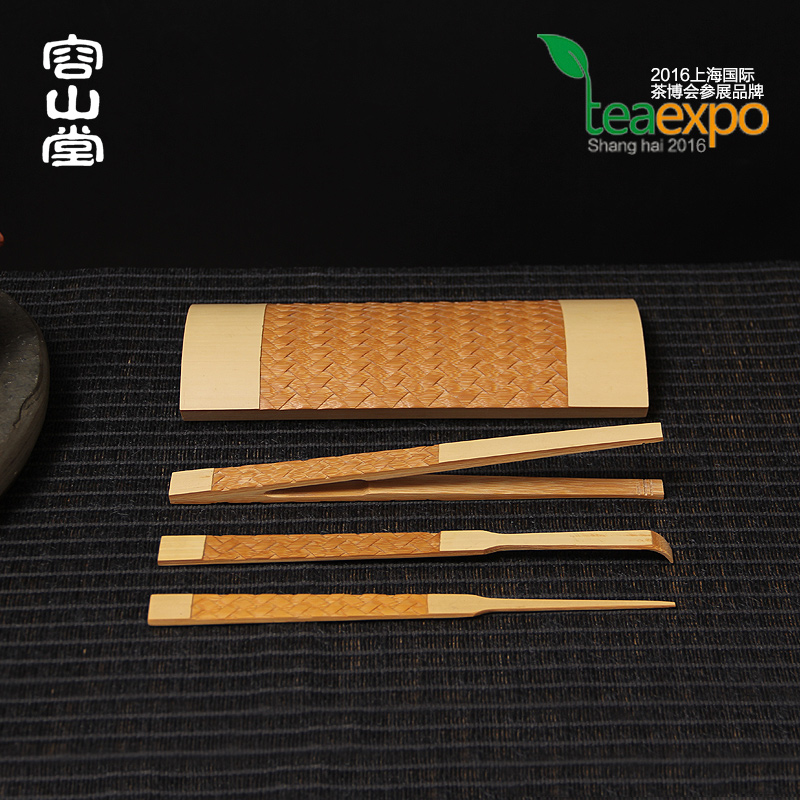 Darongshan hall preferably carving handmade bamboo bamboo tea liujunzi needle tea tea accessories tea lotus tea is tea tea set aside