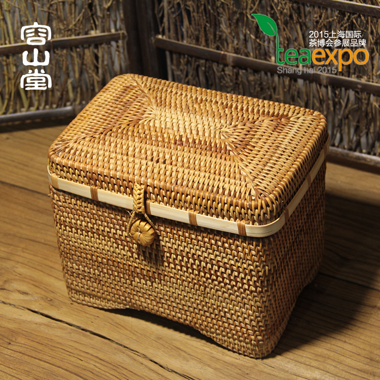 Darongshan hall preferably vietnam autumn rattan cane rattan square ²èò¶ºð pliers pu'er tea caddy tea tea sets admission package
