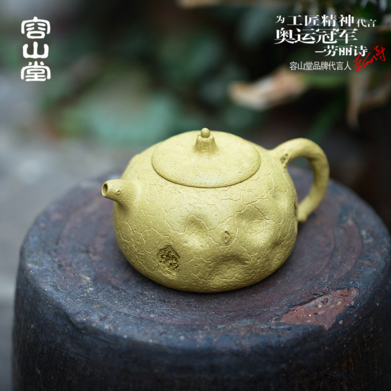 Darongshan top grade hall for the spring segment handmade clay pot teapot yixing purple clay ore genuine large scimitar pot pumpkin