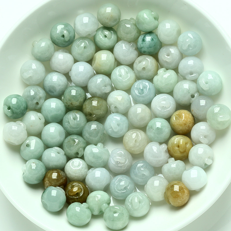 Datang dicui small apple ock a cargo of natural jade jade jade beads loose beads pendant car hanging diy jewelry accessories