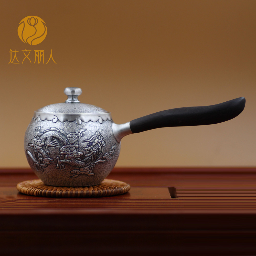 Davenport beauty in urgent need of kung fu teapot yin hu handmade sterling silver 999 sterling silver tea set teapot japanese tea
