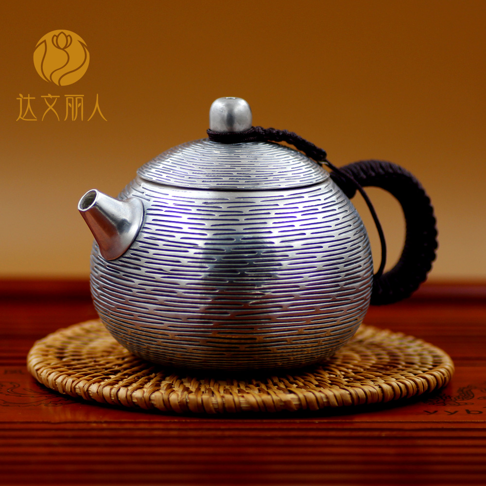 Davenport beauty sterling silver tea set teapot sterling silver yin hu yin hu yin hu yin hu korean models sterling silver tea kung fu tea