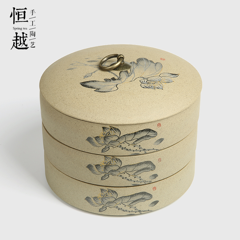 David carse ceramic canisters canister storage canister tieguanyin kung fu tea stoneware pu'er tea caddy