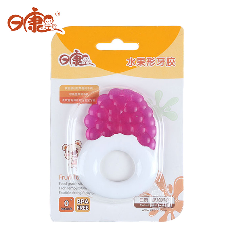 Day kang genuine infant molar gum cartoon fruit shape silicone teether baby teeth teether toy