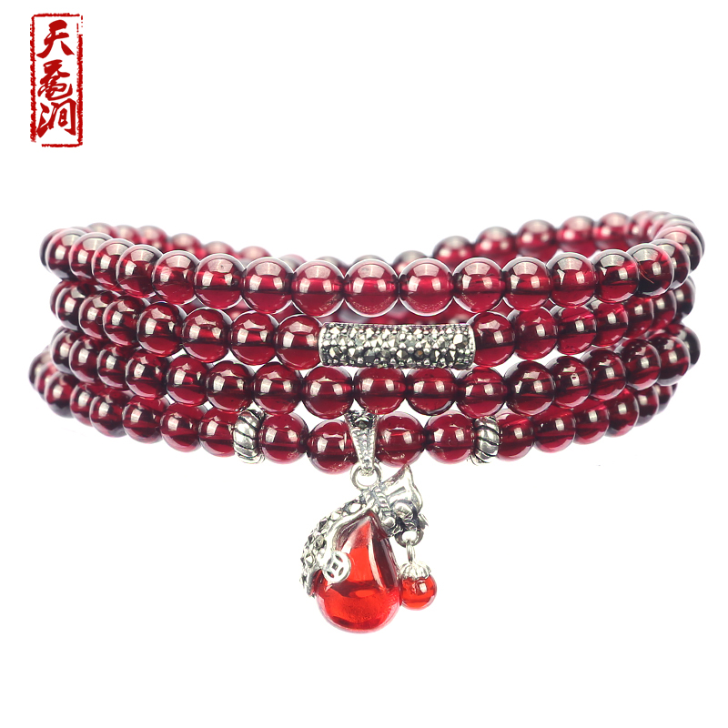 Day sea turtle stream marcasite natural burgundy garnet bracelet multilayer multiturn female models crystal necklace with disabilities 5mm