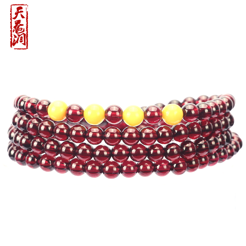 Day sea turtle stream models beeswax natural burgundy garnet bracelet three times four laps ms. additional possession grade 6a Crystal bracelet