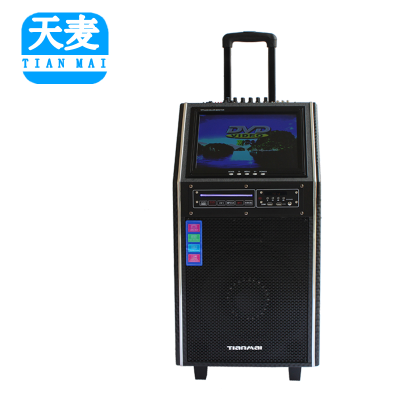 Days mr outdoor stereo speaker battery trolley square dance sound power portable speaker with screen dvd 12 inch