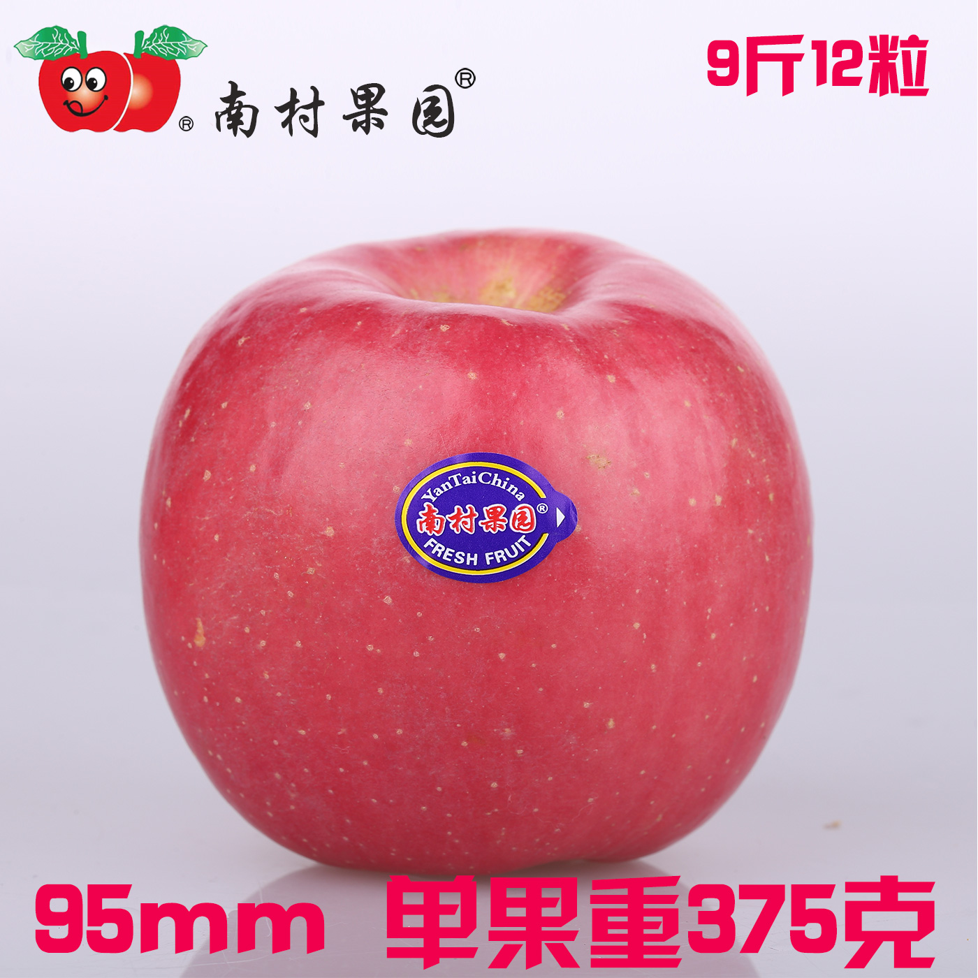 Ddd south village orchard qixia fuji apple apple 95 large fruit yantai specialty fruit fresh apple
