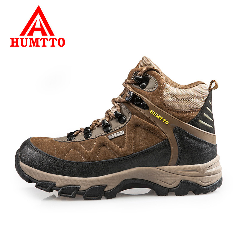 Defended passers new winter outdoor climbing shoes breathable waterproof hiking shoes high shoes plus velvet padded sports shoes