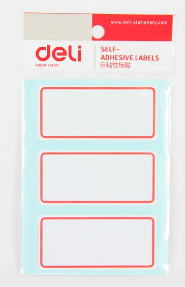 Deli 7186 self adhesive label sticker facilitate posts sticker 34x73mm 3 a